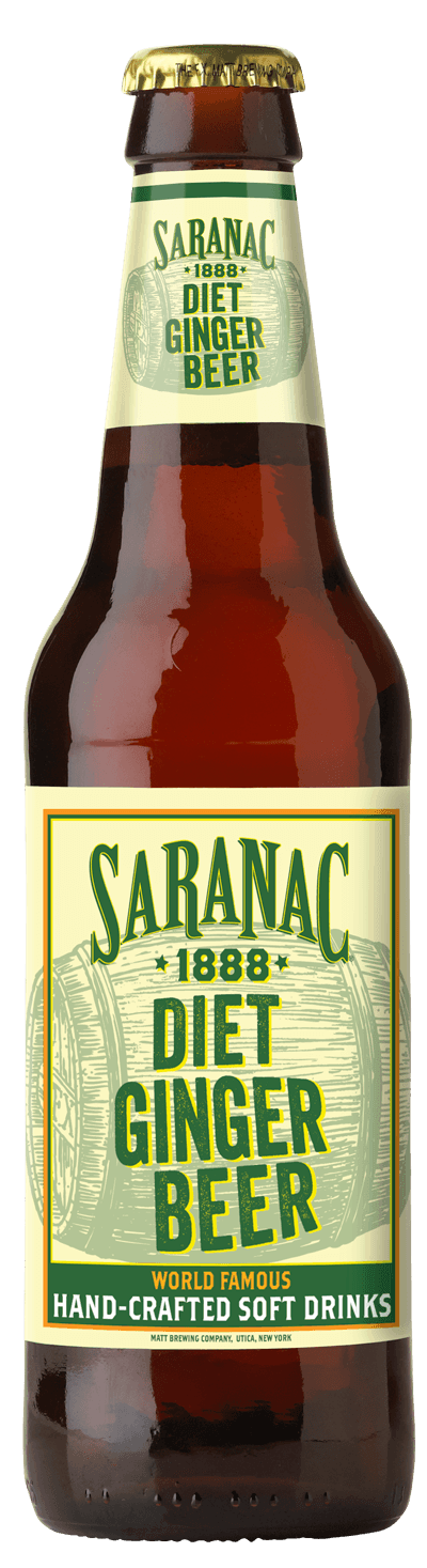 Saranac 1888 Diet Ginger Beer Bottle