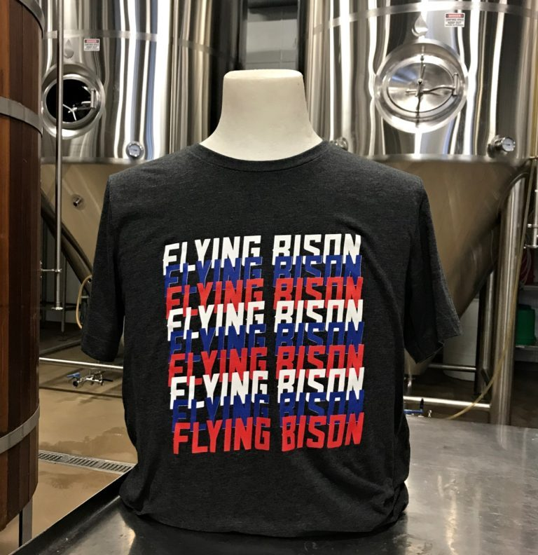 Flying Bison Red, White, Blue Logo Tee
