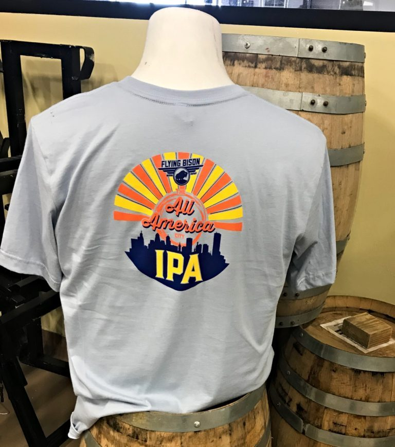 All America IPA Tee, Light Blue back